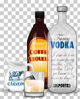 Liqueur Glass Bottle Vodka Flavor PNG