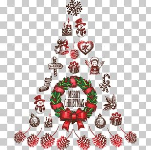 Christmas Tree Santa Claus Christmas Day Sticker Christmas Decoration PNG