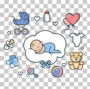 Infant Cartoon Sleep Illustration PNG