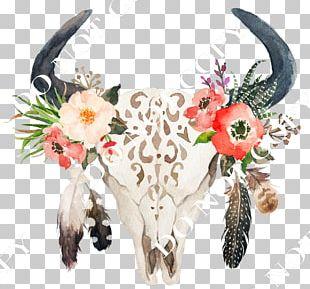 Cattle Wedding Invitation Floral Design Flower Boho-chic PNG