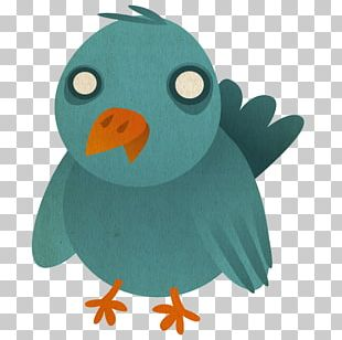 Flightless Bird Turquoise Stuffed Toy Wing Beak PNG
