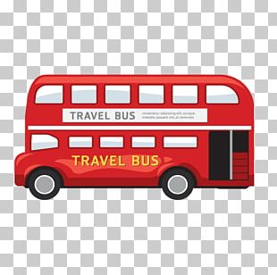 London Bus Drawing Illustration PNG