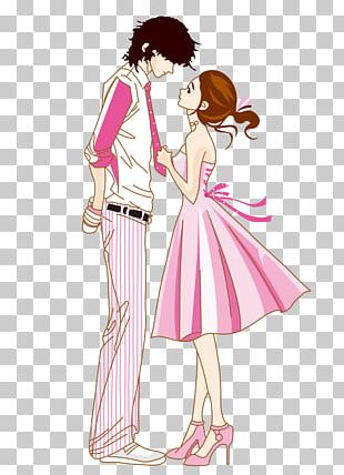 Valentines Day Couple Romance Love Cartoon PNG