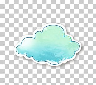 Blue Watercolor Painting PNG