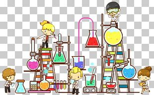 Laboratory Chemistry Science Cartoon PNG