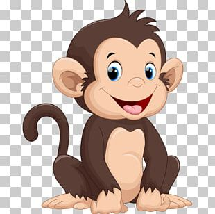 Monkey Cartoon Drawing Illustration PNG