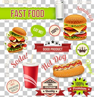 Hot Dog Hamburger Fast Food Veggie Burger French Fries PNG
