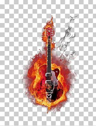 Guitar Sport Allumer Le Feu Humour Illustration PNG