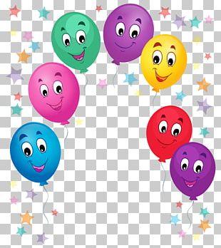 Cartoon Birthday Cake Balloon PNG