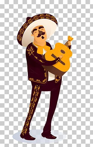Mariachi Christmas Party Cartoon PNG