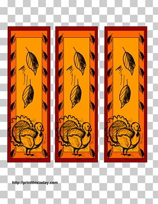 Bookmark Thanksgiving Day Coloring Book PNG