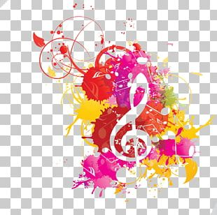 Musical Note Watercolor Painting Musical Notation PNG