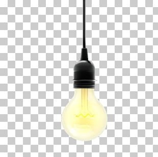 Incandescent Light Bulb Lamp Yellow PNG