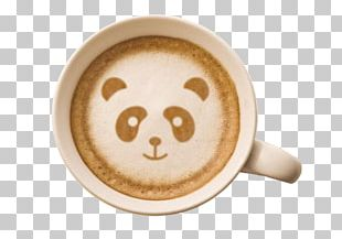 Latte Coffee Cappuccino Cafe Giant Panda PNG
