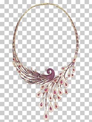 Necklace Earring Jewellery Gemstone Peafowl PNG