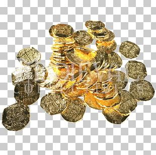 Pirate Coins Piracy Spanish Dollar Doubloon PNG
