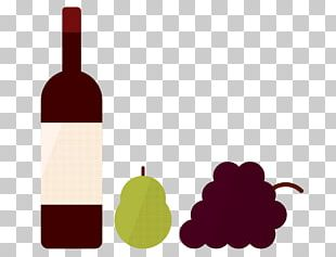 Red Wine Glass Bottle San Francisco PNG