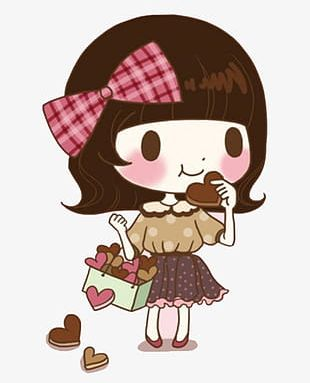 Girl Eating Cookies PNG