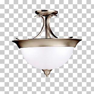 Light Fixture Brushed Metal Pendant Light Lighting PNG