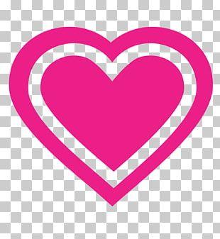 Pink Magenta Purple Violet Heart PNG