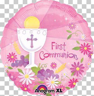First Communion Balloon Baptism Eucharist PNG