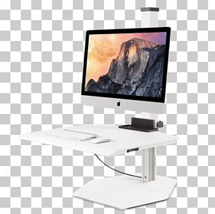 Flat Display Mounting Interface Sit-stand Desk Monitor Mount Standing Desk IMac PNG