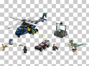 LEGO Jurassic World Blue's Helicopter Pursuit 75928 Toy Walmart PNG