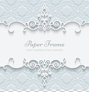 Paper Wedding Invitation Lace Ornament PNG