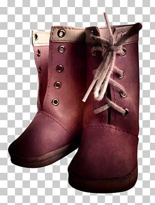 Snow Boot Shoe Footwear Purple PNG