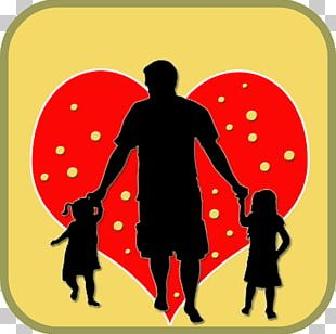 Silhouette Father Daughter Child Son PNG