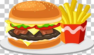 Fizzy Drinks Hamburger French Fries Fast Food Junk Food PNG