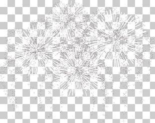 White Black Lace Pattern PNG