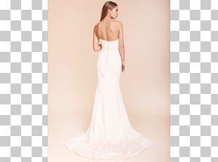 Wedding Dress Shoulder Satin Cocktail Dress PNG