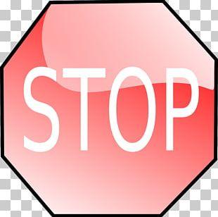 Stop Sign Cartoon PNG