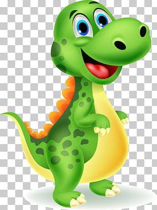 Tyrannosaurus Velociraptor Dinosaur Cartoon PNG