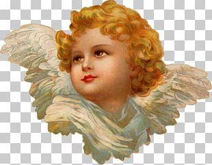 Cherub Christmas Card Angel Victorian Era PNG