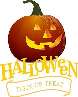 Halloween Pumpkin Painted Cartoon PNG