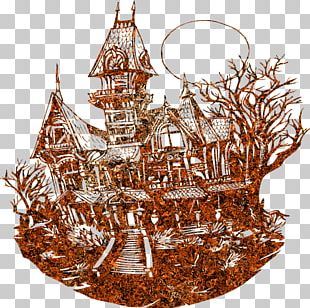 Haunted House Drawing Line Art PNG