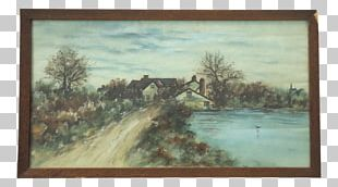 Watercolor Painting Landscape Frames PNG