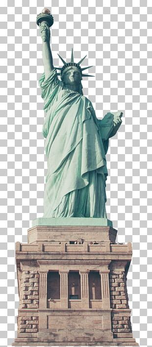 Statue Of Liberty Eiffel Tower New York Harbor Landmark PNG