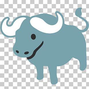 Cattle Water Buffalo Emoji Livestock PNG