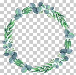 Graphics Watercolor Painting Wreath Floral Design PNG