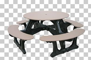 Picnic Table Plastic Bench Seat PNG