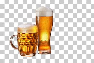 Beer Glasses Lager Wine Barrel PNG