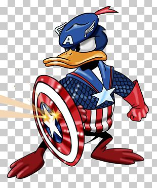 Captain America Donald Duck Iron Man Mickey Mouse T-shirt PNG