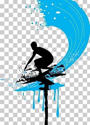 Surfing Surfboard Hang Ten PNG