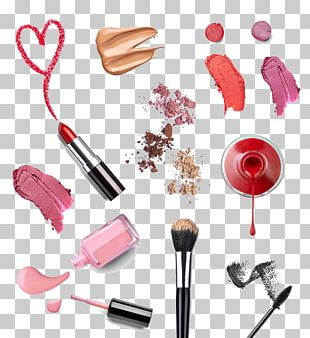 Cosmetics Nail Polish Makeup Brush Lipstick PNG