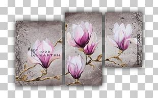 Oil Painting Canvas Floral Design Watercolor Painting PNG