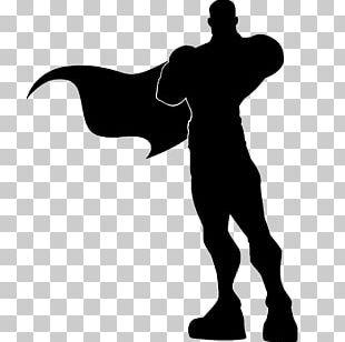 Superman Superhero Silhouette PNG