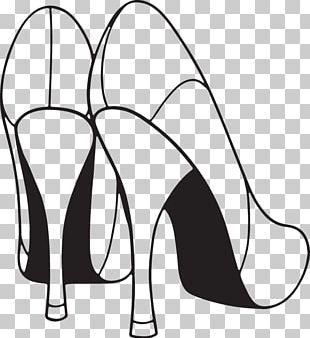 High-heeled Shoe Stiletto Heel White PNG